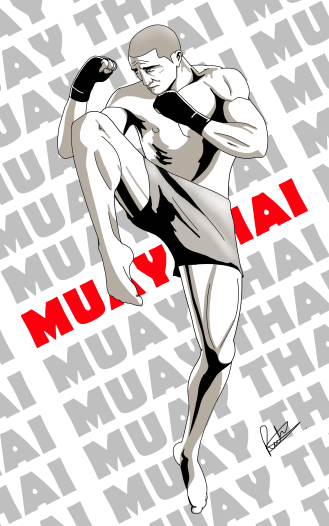 Manga style martial art series - A girl doing a Kung Fu form form the author and illustrator of Sid Smart - this children's book about health and nutrition.