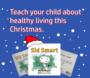 A Christmas advert for Sid Smart - Eating. Sid Smart is a children's book series about healthy living.